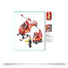 211 Piece Firefighter Airport Building