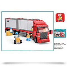 On Sale345 Piece City Freight Truck Building