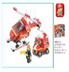 piece firefighter airport building blocks lego