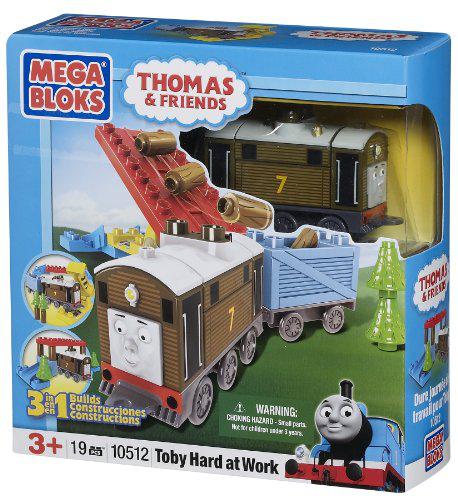 Mega Bloks Thomas 3-IN-1 Buildable Toby Hard At Work